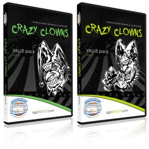 Clowns Clipart Vinyl Cutter Plotter Clip Art Vector CD