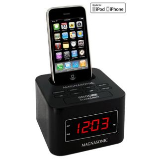 Digital FM Alarm Clock Radio Speaker iPod iPhone Dock Dual Alarm Auto