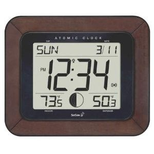 Skyscan Atomic Clock Weather Station Outdoor Temp 88901