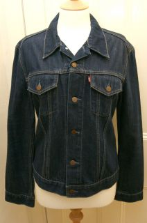 LEVIS 70590 GIRLS BLUE DENIM RED TAB JEAN JACKET L excellent condition