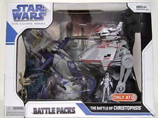 Star Wars CLONE WARS Battle Pack THE BATTLE OF CHRISTOPHSIS AAT AT AP
