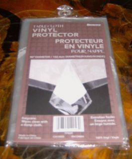 Clear Plastic Tablecloth Protector 60 Round Very High Quality Fast