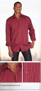 Classic Stylish Contrast Stripes Color Dress Shirt Style 306