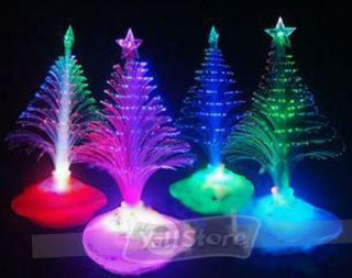 Colorful Christmas Tree Fiber Optic Night Light Xmas