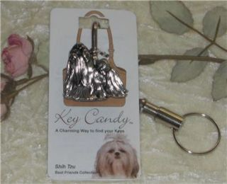 Shih Tzu Dog Best Friends Key Finder Purse Hook