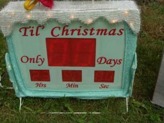Countdown To Christmas Snowman Lighted Digital Clock Yard Decor