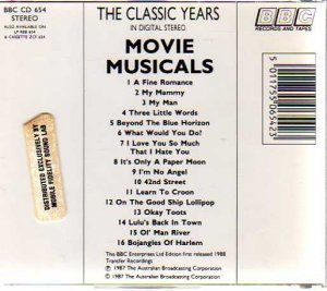The Classic Years Movie Musicals Vol 7 Mobile Fidelity BBC Silver Disc