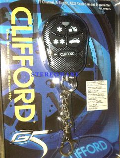 Clifford 904075 Replacement 5 Button Remote 16 Channel