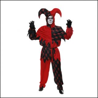 Jester Evil Clown Circus Horror Joker Unisex Fancy Dress Halloween