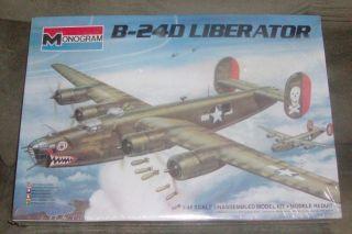 VINTAGE MONOGRAM B 24D LIBERATOR BOMBER 1 48 SCALE MODEL KIT FACTORY