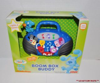 NEW NICK JR BLUES CLUES BOOM BOX BUDDY LIGHTS & MUSIC TUNES TOY FISHER