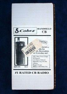 Cobra HH 28 Handheld CB 40 Channel Radio Walkie Talkie Used Working