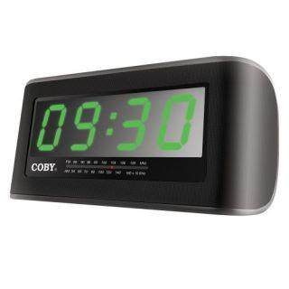 Coby CRA108 Digital Am FM Jumbo Alarm Clock Radio Black
