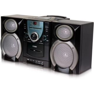 Coby Micro Shelf System Boombox CD Player Cassette Deck and Am FM