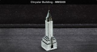 Metal Works Chrystler Building 3D Laser Cut Model Fascinations 010091