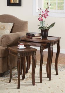 Brand New Coaster Furniture Nesting Table Set 901076 3pc Set Warm