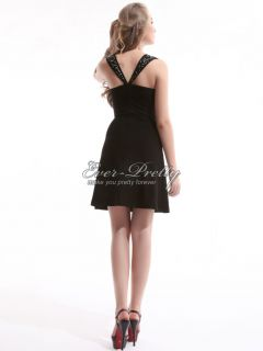 NWT Stretchy Black Sexy Stunning Short Cocktail Dress 03335 US Size 16