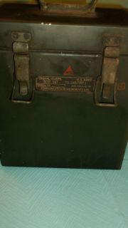 vintage U.S. ARMY Signal corps Test Set TS 245/TRT 1 908 PHILA 45 08