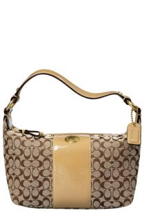 COACH ERGO PATENT SIGNATURE TOP HANDLE POUCH