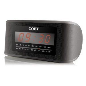 New 2012 Coby Digital Alarm Clock Am FM Radio LED Display CR A54 Sleep