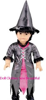 Doll Clothes Fits American Girl Witch Costume Wowee