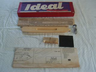 Vintage Wood Ideal Model Kit Clermont 1949 Unbuilt