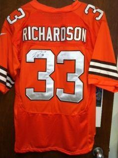 Footballtrent Richardson Autographed Cleveland Browns Jersey