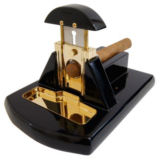 Cuban Crafters Exotica Table Cigar Cutter Black Gold Fully Guaranteed
