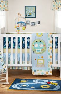 Living Textiles Baby Bot Quilt, Crib Sheet & Bed Skirt