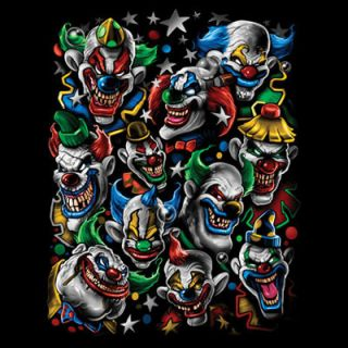 Clowns Clowns and More Clowns Evil Clowns T Shirt 111045