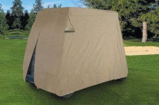 WATERPROOF SUPERIOR BEIGE GOLF CART COVER COVERS CLUB CAR, EZGO