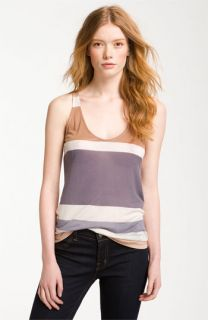 Splendid Colorblock Stripe Racerback Tank