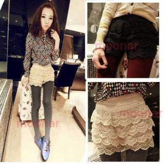 Chic Lace Mulit Tierd Short Skirt Clubbing Prom Sumemr 2Colors