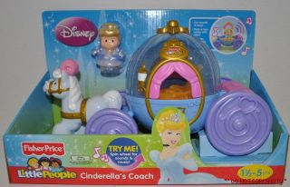 PRICE LITTLE PEOPLE DISNEY PRINCESS SONGS PALACE CINDERELLA & COACH
