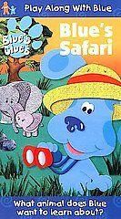 Blues Clues Blue Safari VHS Kids Dog Fun Cartoon TV Show Video Tape