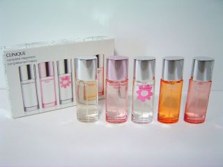 NIB Clinique Complete Happiness 5 Mini Perfume Spray   Happy, Heart