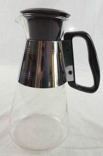Vinage Pyrex Coffee Po Carafe Rero Mid Cenury 50s Silex Glass 6