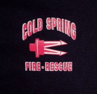 Cold Spring NY Fire Rescue Department T Shirt L Blue Tee Shirt Jaws of