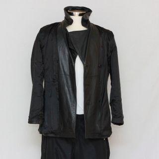COLEBROOK womens leather coat jacket, belt, 6 buttons(3 each side), 2