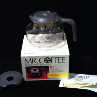Mr Coffee 10 Cup Replacement Glass Pot Decanter New in Box Model D7A 2