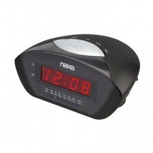 Naxa NRC 160 Digital Alarm Clock with Am FM Radio Snooze