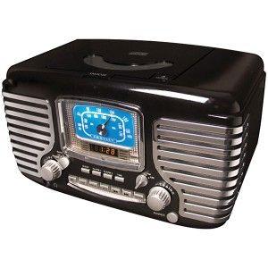 CROSLEY RADIO Corsair Dual Alarm Clock/Radio CD Player (Black