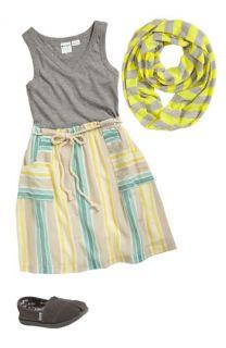 Roxy Knit Dress & Erge Designs Infinity Scarf (Big Girls)