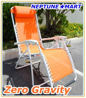 Zero Gravity Folding lounge Chair leisure recliner Orange