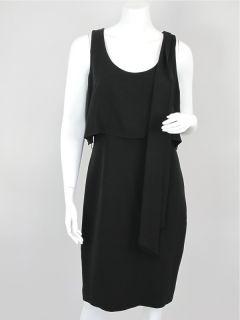 15 215 CHANEL at SOCIALITE AUCTIONS Sz 42 Black Sheath Dress