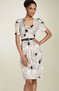 Donna Ricco Belted Silk Dress