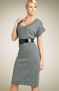 Calvin Klein Belted Sweater Dress