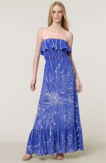 Jay Godfrey Vaughn Strapless Silk Maxi Dress