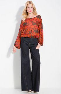 Rachel Zoe Bianca Printed Silk Blouse