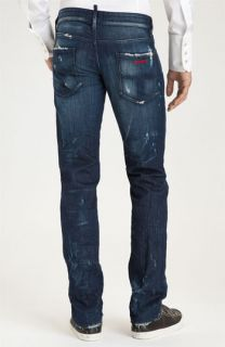 Dsquared2 Avatar Slim Fit Jeans (Blue Wash)
